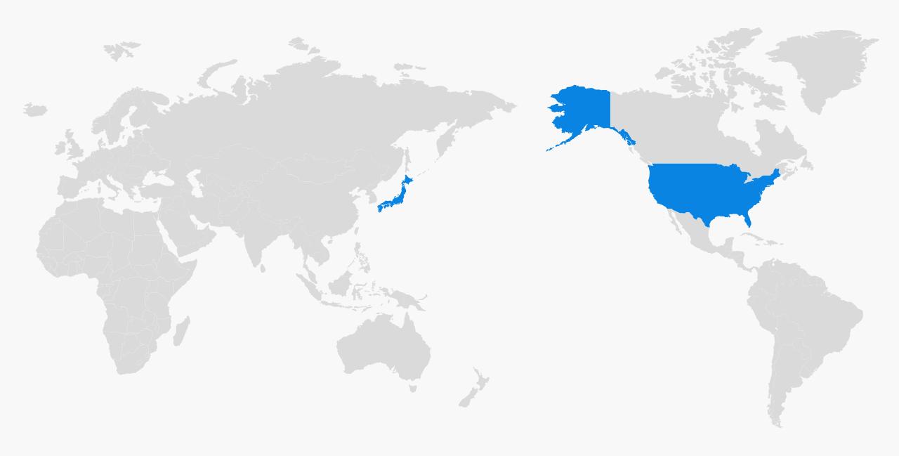 日本に加え米国にも分散